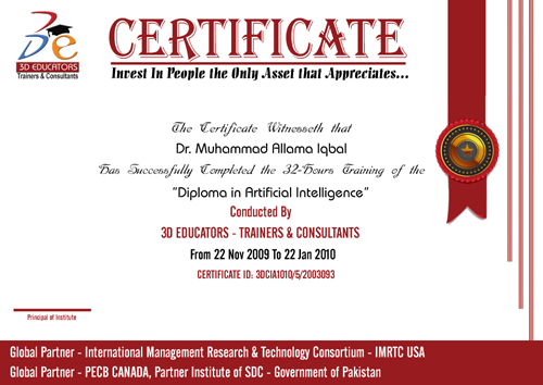 AI Training Sample Certificate